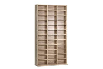 Bookshelf DVD, CD Media Storage Display Shelf - Oak Look