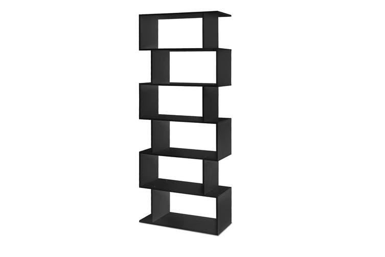 Display Shelf 6 Tier Bookshelf - Black