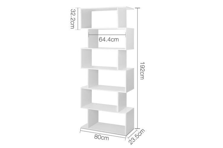 Display Shelf / Bookshelf 6 Tier Shelves - White