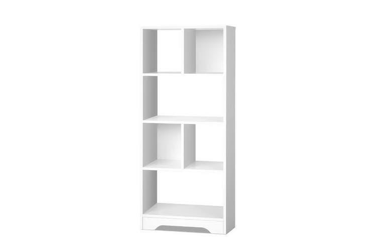 Display Shelf Bookcase Storage Cabinet Home Office White