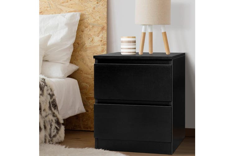 Dick Smith Bedside Tables Drawers Side Table Bedroom Furniture Nightstand Black Lamp Home Garden Furniture Bedside Tables Furniture