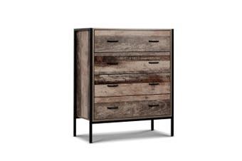 Tallboy 4 Chest of Drawers Industrial Rustic Style