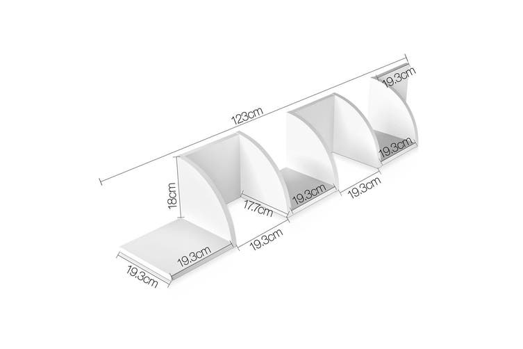 Corner Wall Shelf 5 Tier - White