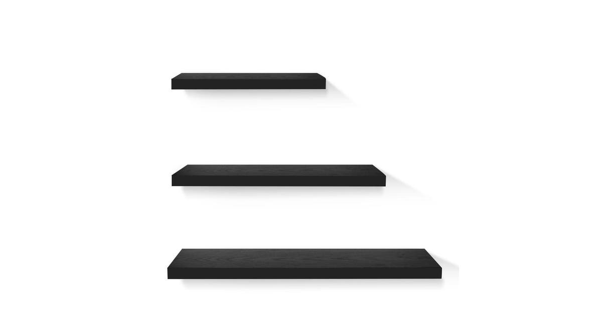 bbo floating wall shelf 3 piece black newartfurni wall shelf bk