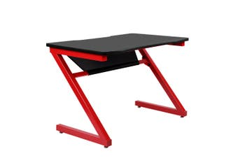 Gaming or Laptop Table Black Table Top & Red Frame