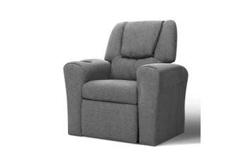 Kids Armchair Recliner Children Couch - Grey Fabric