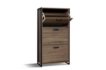 Shoe Cabinet 113cm Height Wood Look