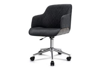 Wooden Office Chair Computer Gaming Chairs Executive Fabric Grey