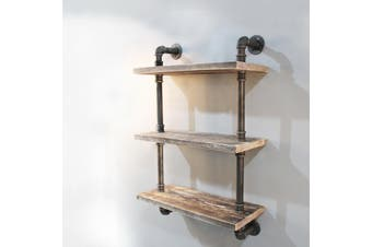 Industrial Shelf Wall Mounted Display Shelf Bookshelf 3 Tiers