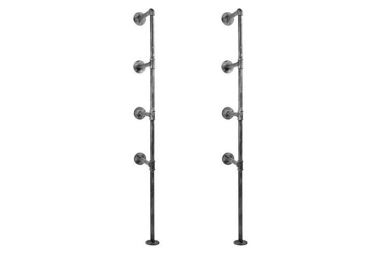 Metal Pipe Brackets for DIY Shelf