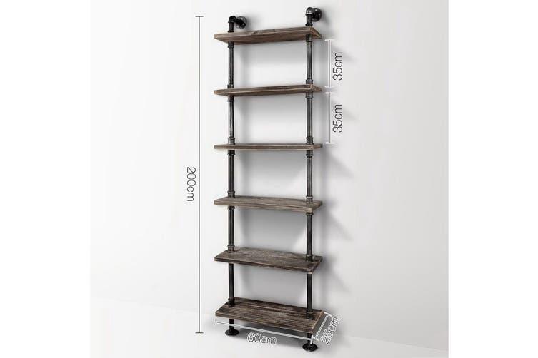 6 Level DIY Wooden Bookshelf