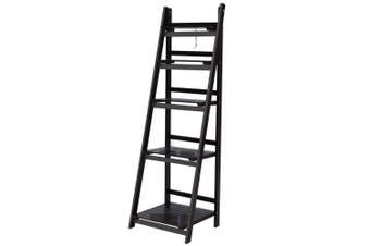 Display Shelf 5 Tier Ladder Shelf Bookshelf - Coffee