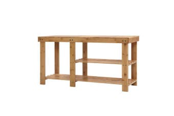 Bamboo Shoe Rack Organiser and Bench