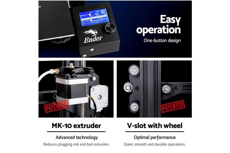 3D Printer Creality Ender 3 Pro Large Printing Filament 1.75mm 220x220x250mm