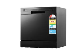 Benchtop Dishwasher Countertop 6 Programs Compact for Kitchen Caravans - Black
