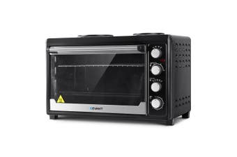 Convection Oven & Electric Benchtop included 2 Hotplates, Baking Tray, Rack 60L