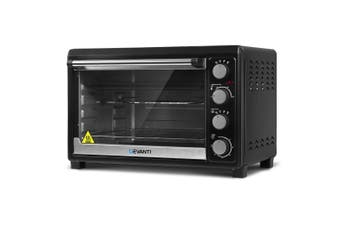 Convection Oven Electric 2000W Portable Benchtop Oven 45L Glass Door