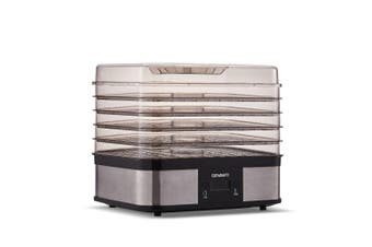 Food Dehydrator with 5 Trays Stainless Steel - Silver