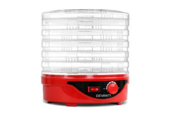 Food Dehydrator Healthy Choice Fruit Beef Jerky Dehydrator with 7 Trays - Red