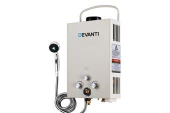 LPG Hot Water Heater Portable Shower for Camping Caravan Outdoor