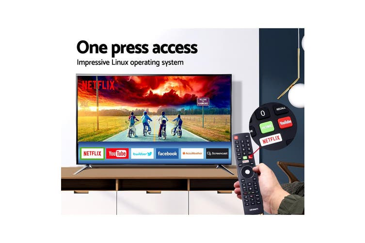 Smart TV 4K 43 inch Ultra HD HDR Screen Easy Access for Netflix YouTube