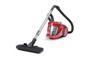 Bagless Vacuum Cleaner 2800W Cyclone Vac Easy Clean 4L Dust Capacity - Red