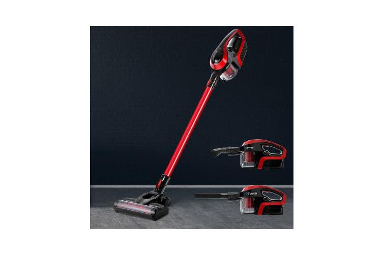 Cordless Vacuum Cleaner Stick Handheld Vacuum 150W Bagless Handstick - Black&Red