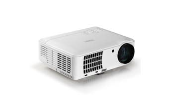 Projector Full HD 1080P Built-in Speaker Wide Projection Video Home Business Use