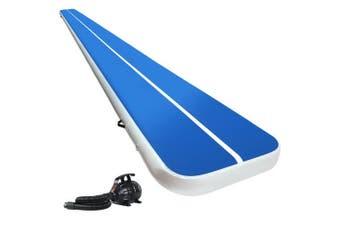 Inflatable Air Track Mat 8m x 1M Gymnastics Mat with Electric Air Pump - Blue