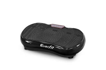 Vibration Machine Plate Platform Body Shaper Home Gym Fitness Black