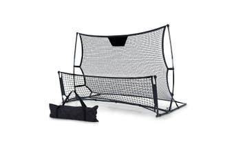 Soccer Goal & Rebound Net 2 in 1 Combo Portable, Lightweight 195x89x118cm