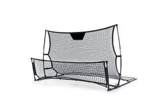 Soccer Goal & Rebound Net 2 in 1 Combo Portable, Lightweight 210 x 120 x 120cm