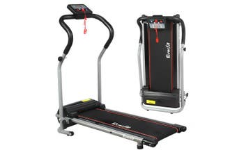 Treadmill Electric 600W Fitness Home Gym Workout Equipment Foldable - Black