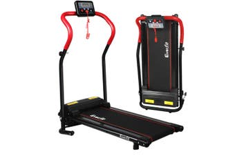 Treadmill Electric 600W Fitness Home Gym Workout Equipment Foldable - Red