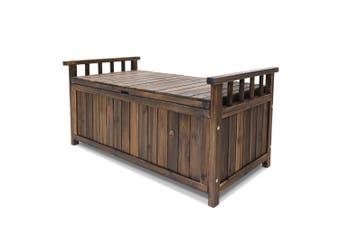 Bench & Storage Box Wooden Seat Outdoor Indoor 160L Storage 106 L x 53cm W