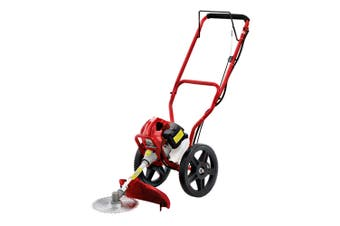 Weed Trimmer / Wheeled Line Trimmer Heavy Grass Lawn Cutter 62cc Petrol Engine