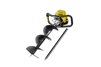 Post Hole Digger 62cc Petrol Engine with 300mm Auger Ground Drill Earth Borer