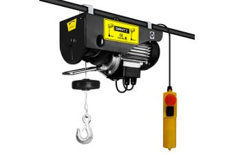 Electric Hoist Winch 1600W 500 kg/ 1000kg Single & Double Rope Lifting - Black