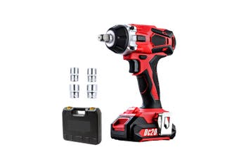 Impact Wrench Cordless 20V Lithium-Ion Battery Bonus Carry Case