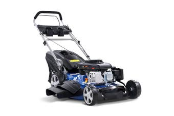 "Lawn Mower Self Propelled 22"" 4 Stroke 220cc Petrol 65L Grass Catcher Mulcher"