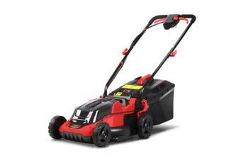 Lawn Mower Cordless Electric 40V 2Ah Lithium Battery 34 cm Cutting Width