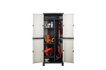 Garage Outdoor Storage Cabinet Lockable Cupboard Adjustable / Removable Shelves