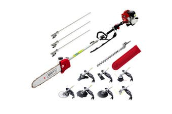 Whipper Snipper Brush Cutter Hedge Trimmer Chainsaw Petrol 62cc 9in1 Multi Tool