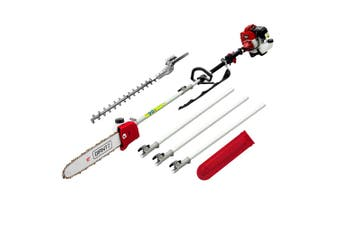 Pole Chainsaw & Hedge Trimmer Petrol 62cc 3.4HP Engine 2in1 Multi Garden Tools