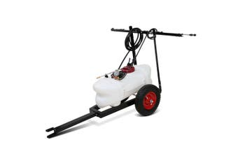 Weed Sprayer 100L Tank with adjustable boom rack & trailer cart tow behind ATV