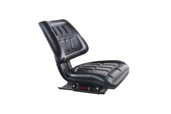 Tractor Seat Adjustable Sliding Track PU Leather Universal Replacement Seat