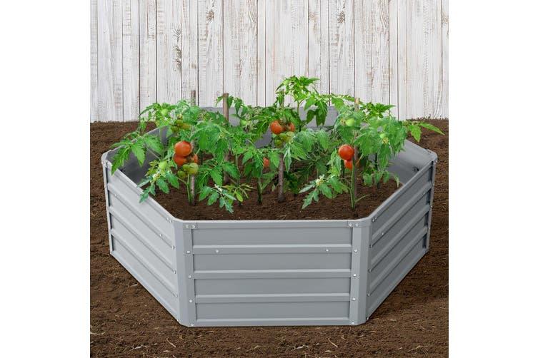 Raised Garden Bed / Flower Bed 2xSteel Beds Plants Vegetable Growth 130x130x46cm
