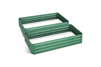 Raised Garden Bed / Flower Bed Planter Vegetable Boxes 2x Steel Beds 150x90x30cm