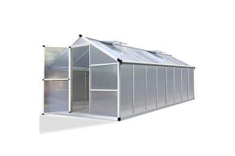 Greenhouse Polycarbonate Walk In Green House Plants 4.8x2.5m Aluminium Frame