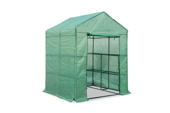 Greenhouse Walk In Green house Small 1.4 x 1.55m with 4 Plant Shelves